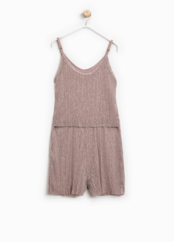 Sleeveless playsuit with lurex | OVS
