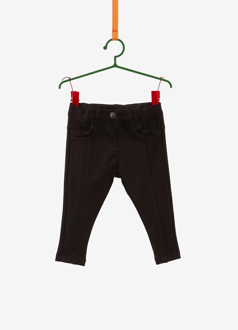 Stretch trousers with bows