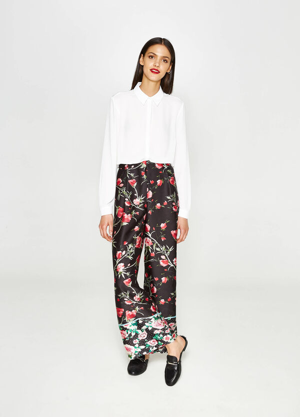 Palazzo trousers with all-over print | OVS