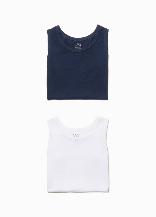 Two-pack cotton vest tops