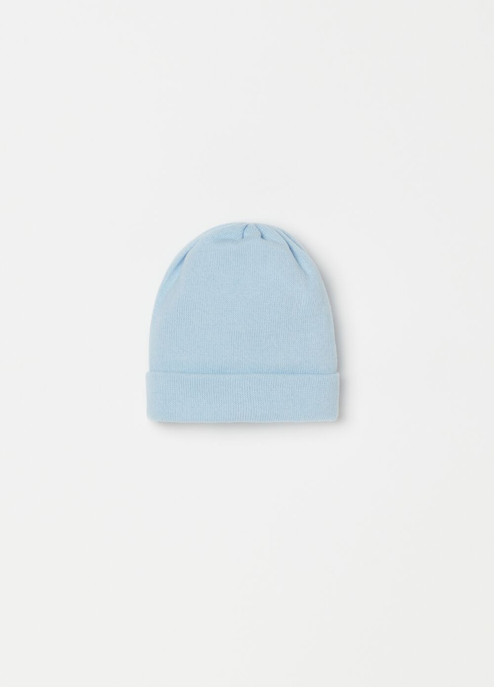Cotton hat with folded brim