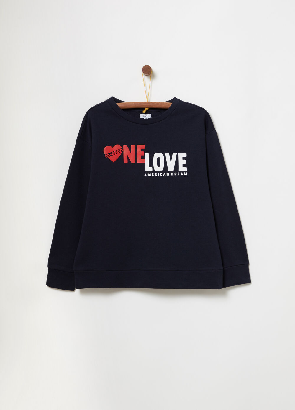 French terry sweatshirt with print