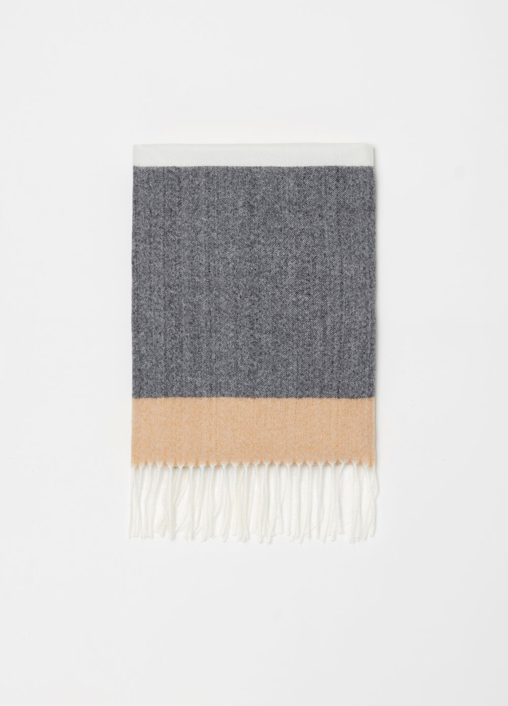 Soft-touch scarf with striped pattern