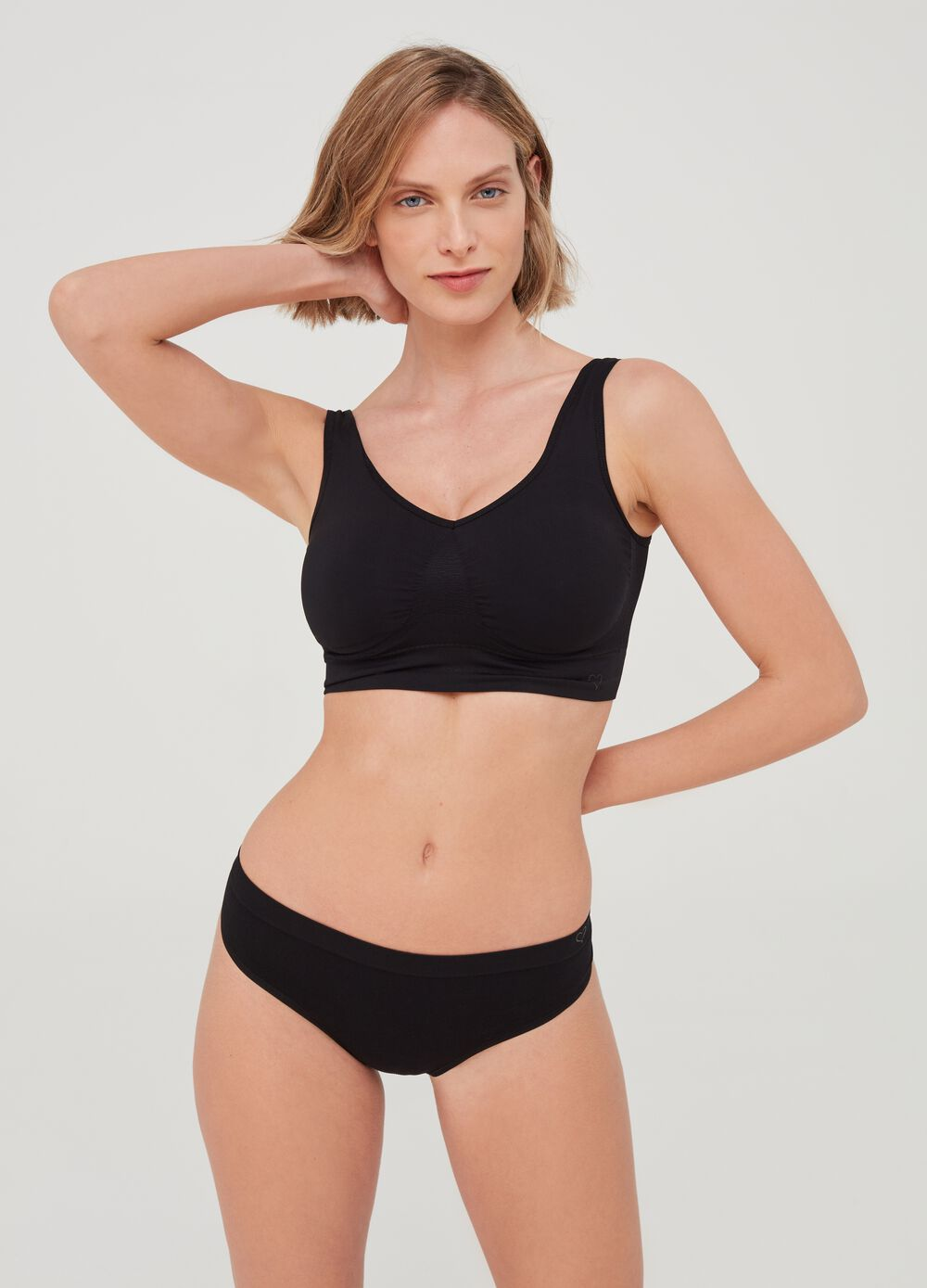 The One - Natural-effect bra top