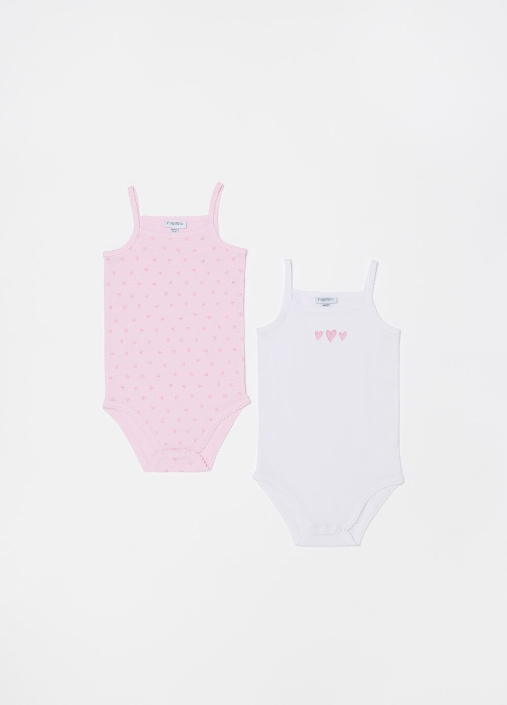 Two-pack bodysuits with spaghetti straps