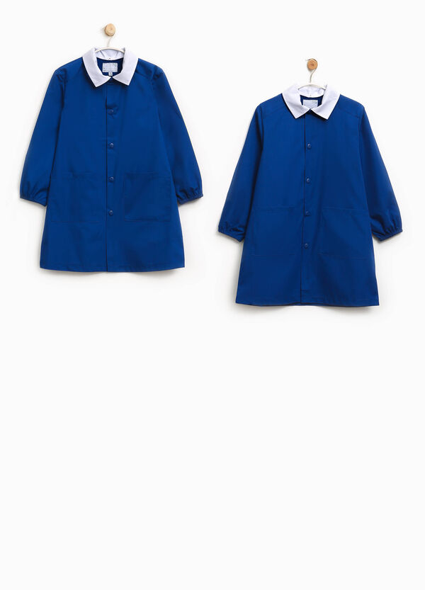 Two-pack solid colour cotton blend smocks | OVS