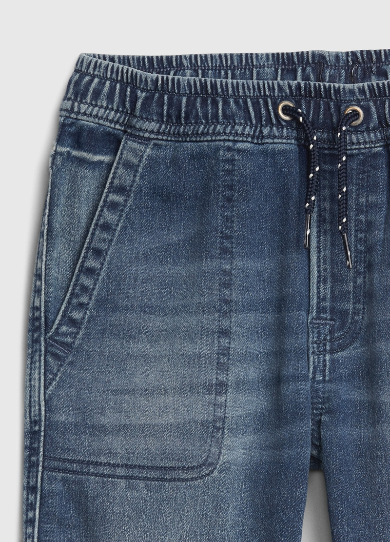 GAP denim joggers with drawstring image number null