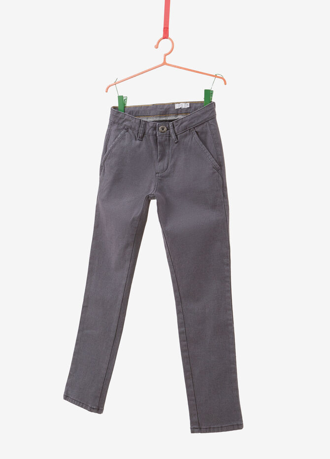 100% cotton chino trousers with speckled weave