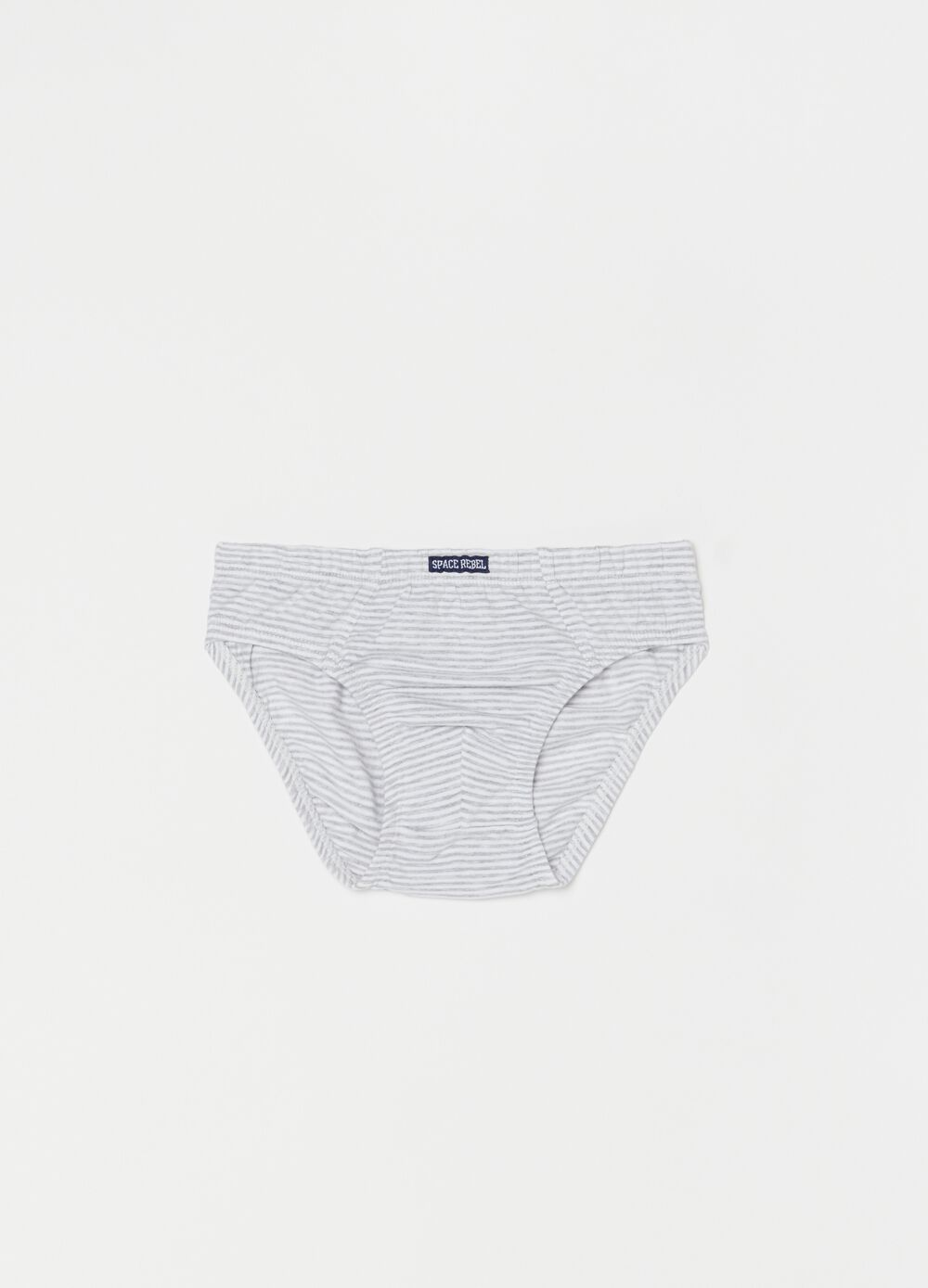 Organic cotton briefs with stripes