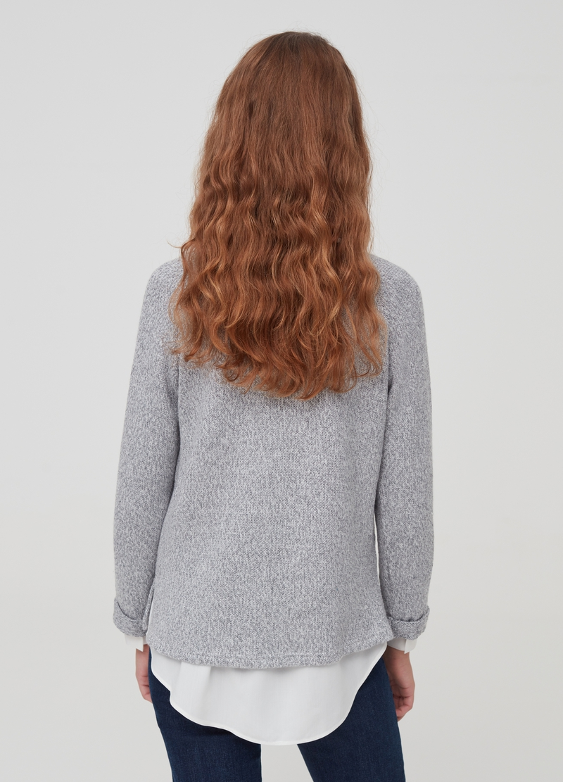 Pullover with lurex and splits image number null