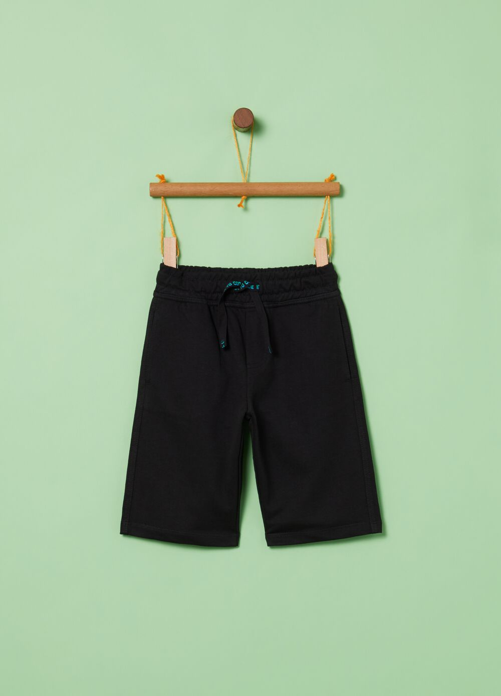 Terry towelling shorts with pockets and drawstring