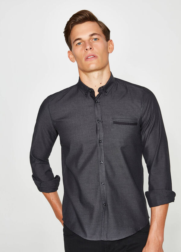 Camicia casual colletto button down