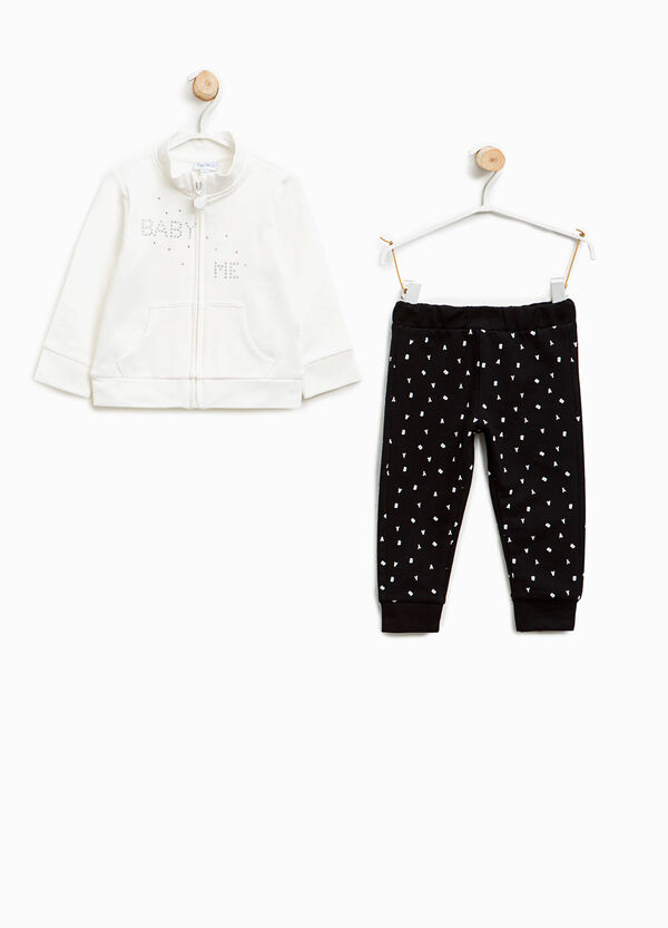 Outfit with diamantés and lettering   OVS