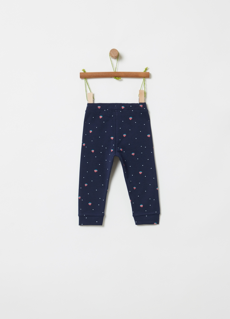 French terry joggers with pattern image number null