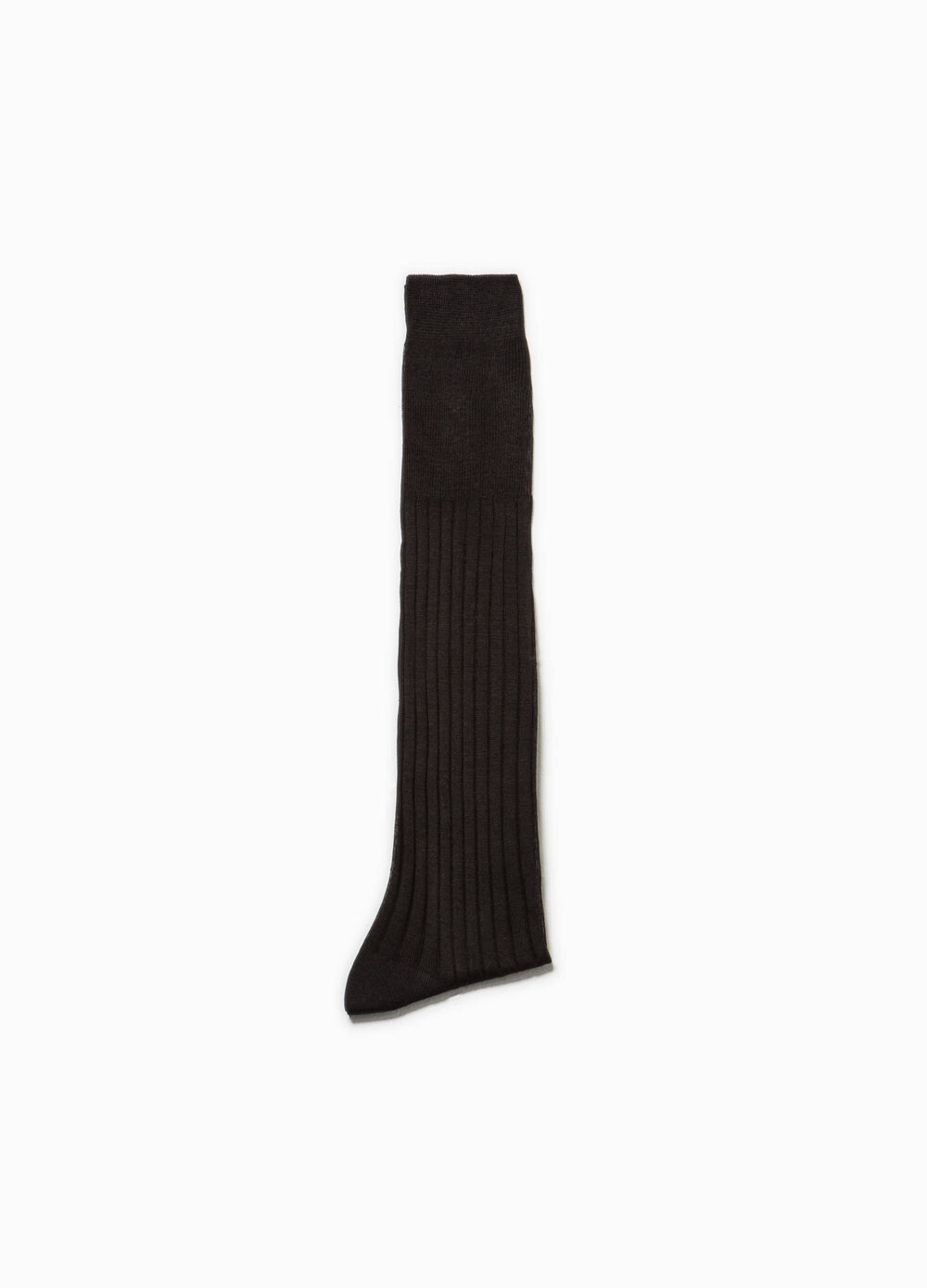 Long cotton socks with ribbed cotton