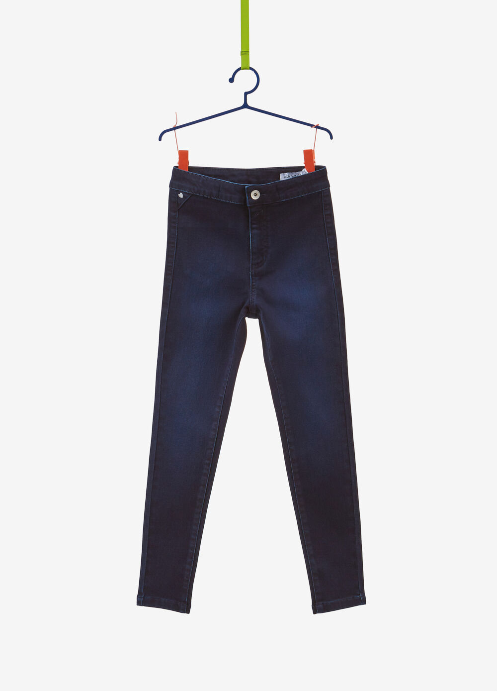 Super-skinny-fit faded-effect stretch jeans