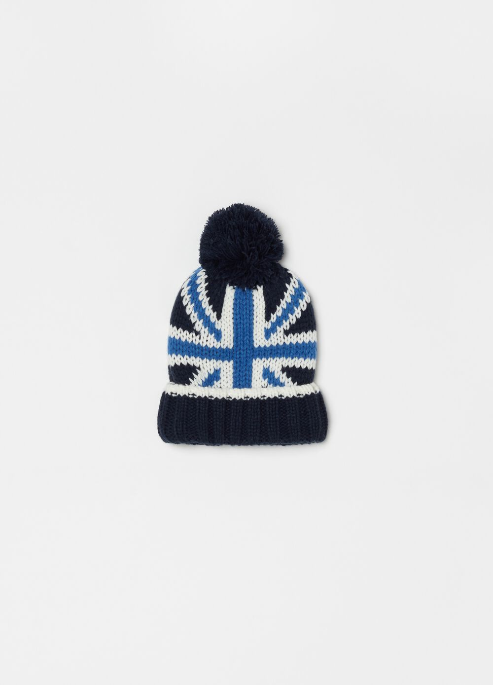 Knitted hat with English flag