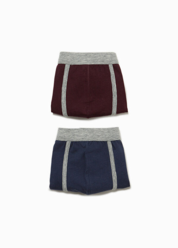 Two-pack stretch cotton boxer shorts with edging
