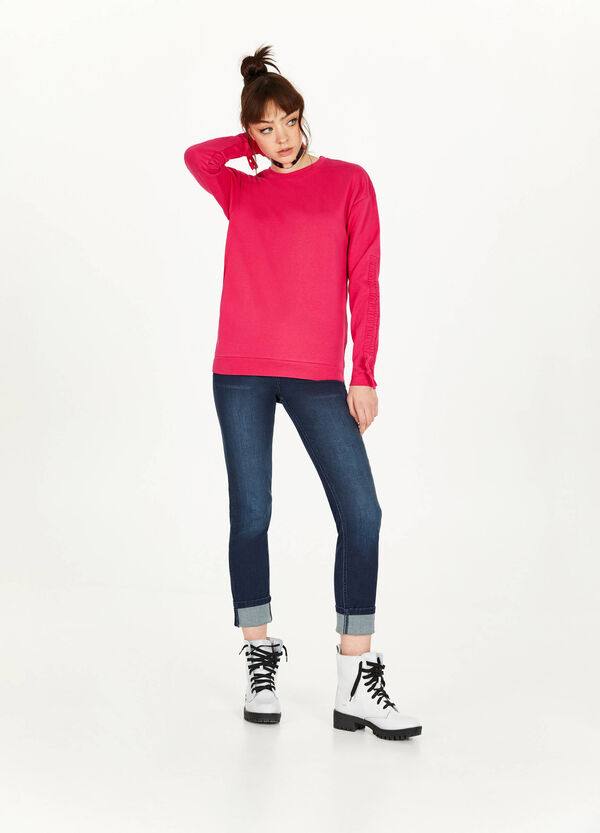 100% cotton sweatshirt with bows