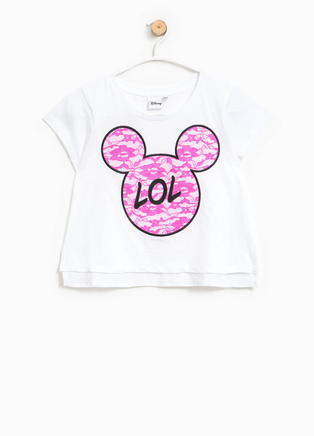 T-shirt con ricami Mickey Mouse