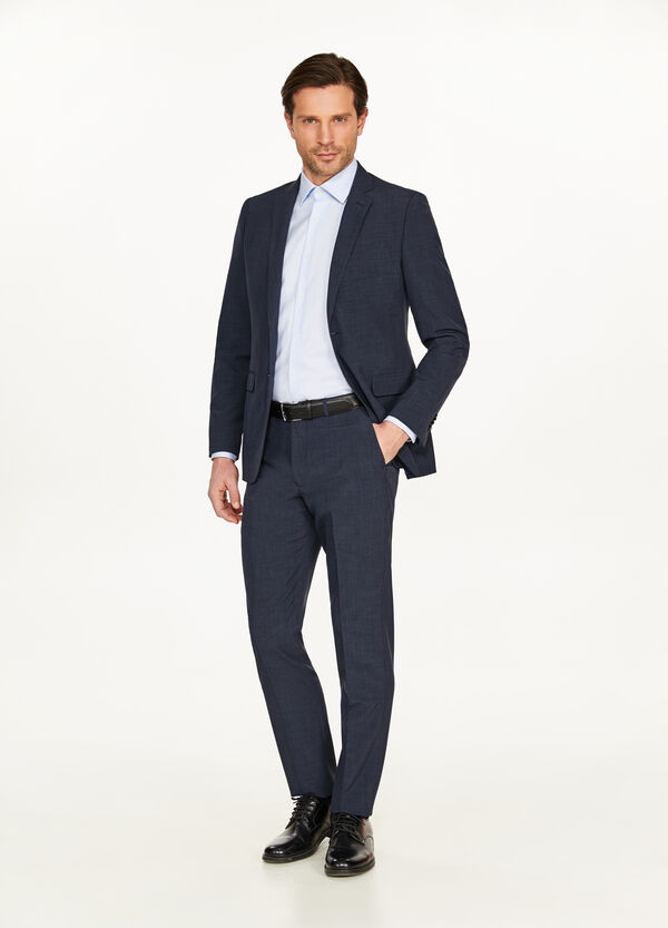Regular-fit suit with two buttons and lapels