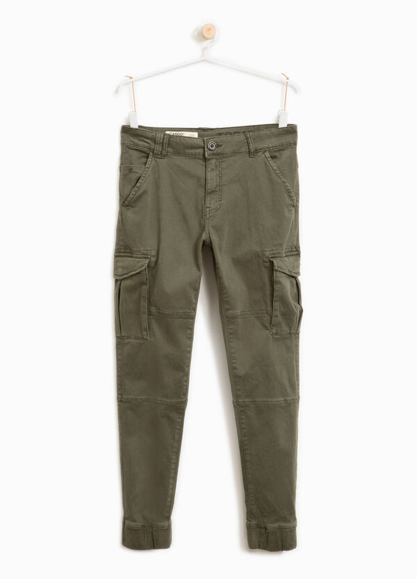 Stretch cotton cargo-cut chinos | OVS