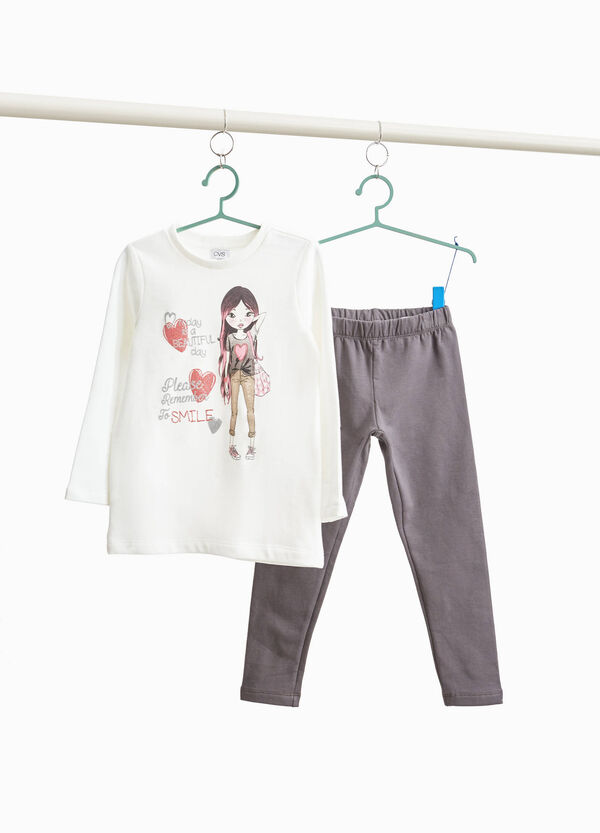 100% cotton outfit with girl print
