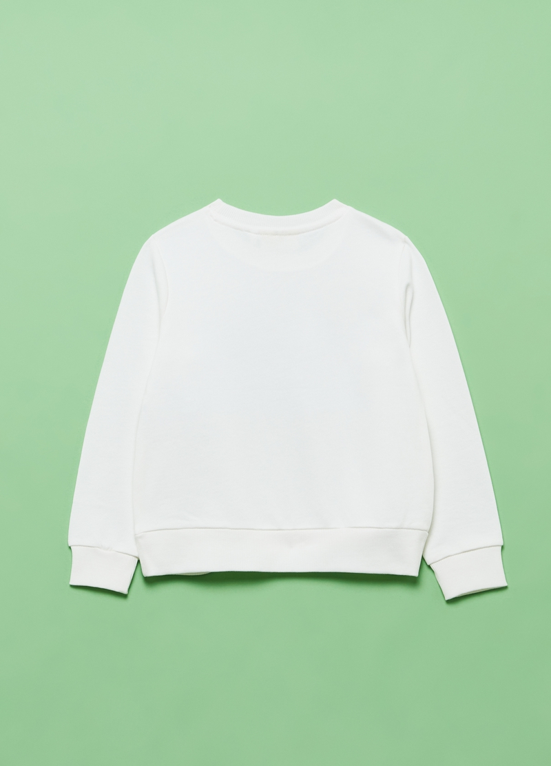 Sweatshirt in French terry with diamantés image number null