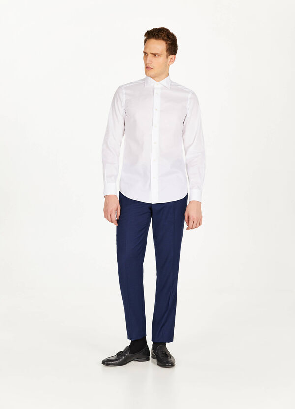 Slim-fit formal shirt in cotton