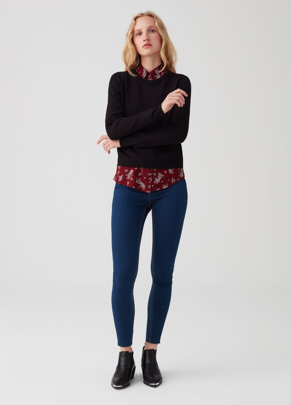 Jeggings superskinny fit sin rematar