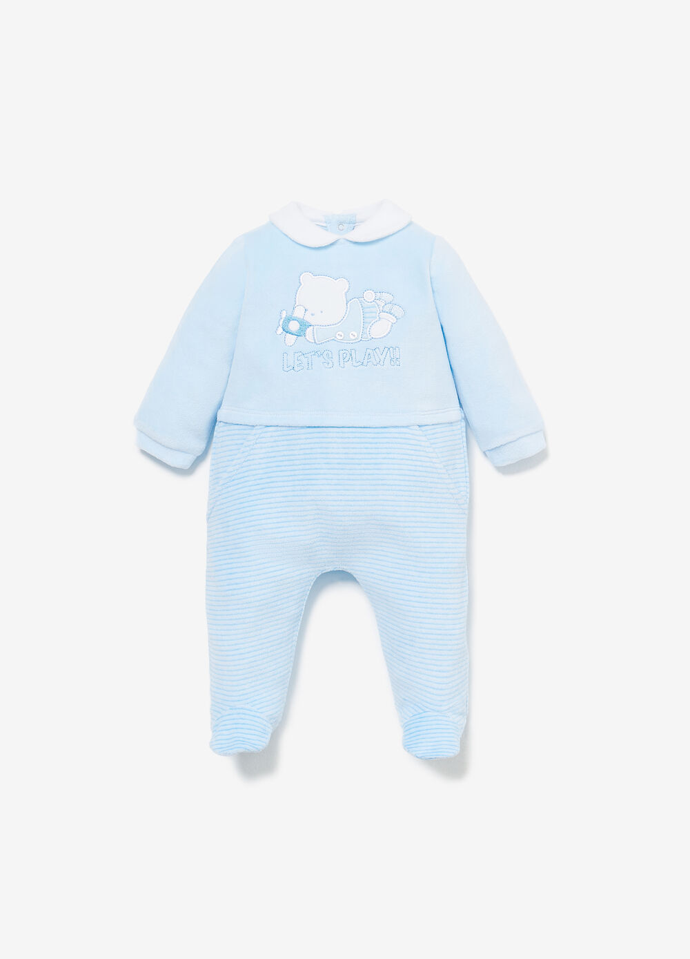 Embroidered Winnie the Pooh romper suit