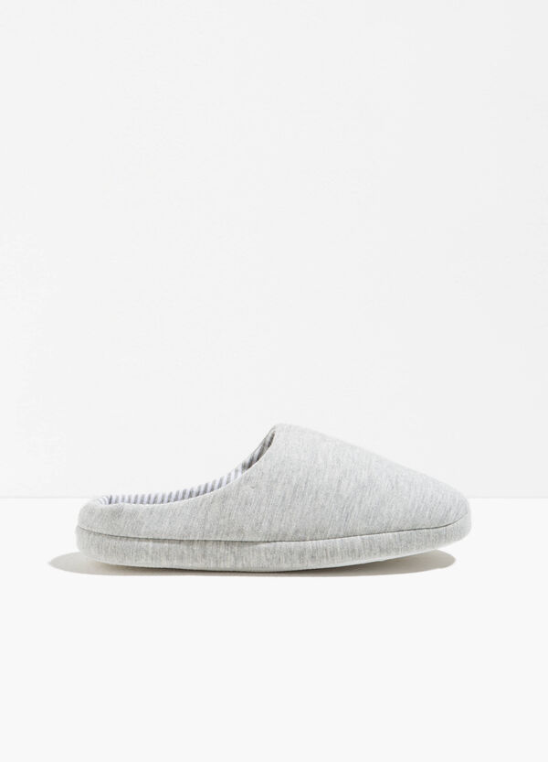 Canvas slippers with striped sole | OVS