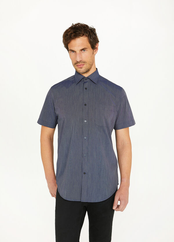 Regular-fit casual shirt with button down collar