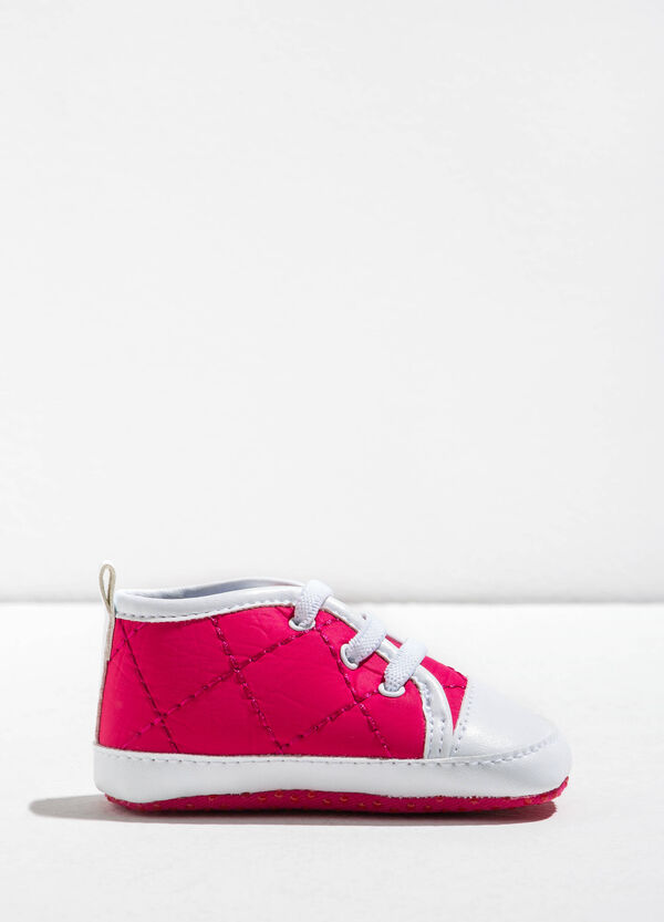 Quilted-effect sneakers