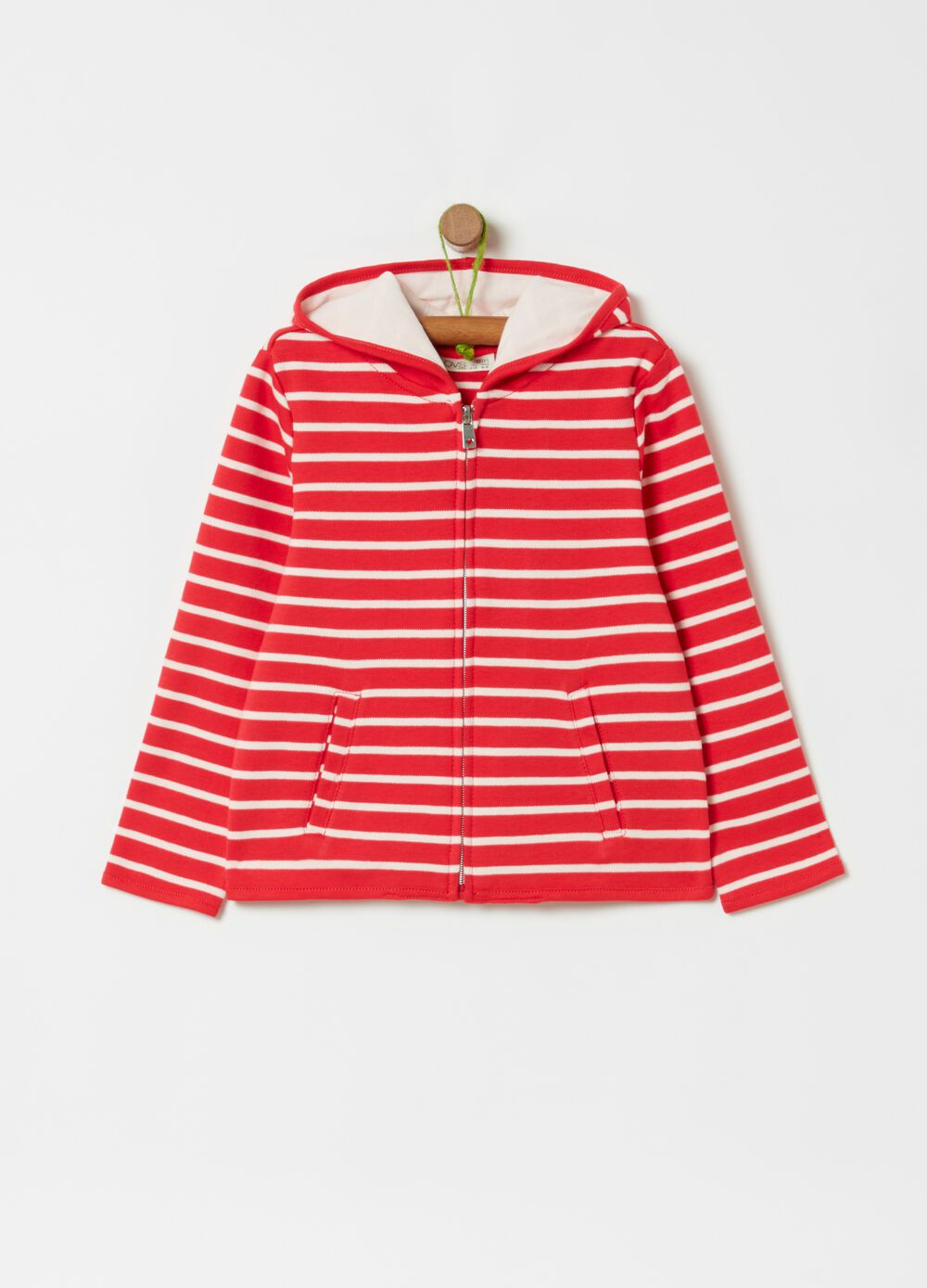 100% cotton sweatshirt with stripes