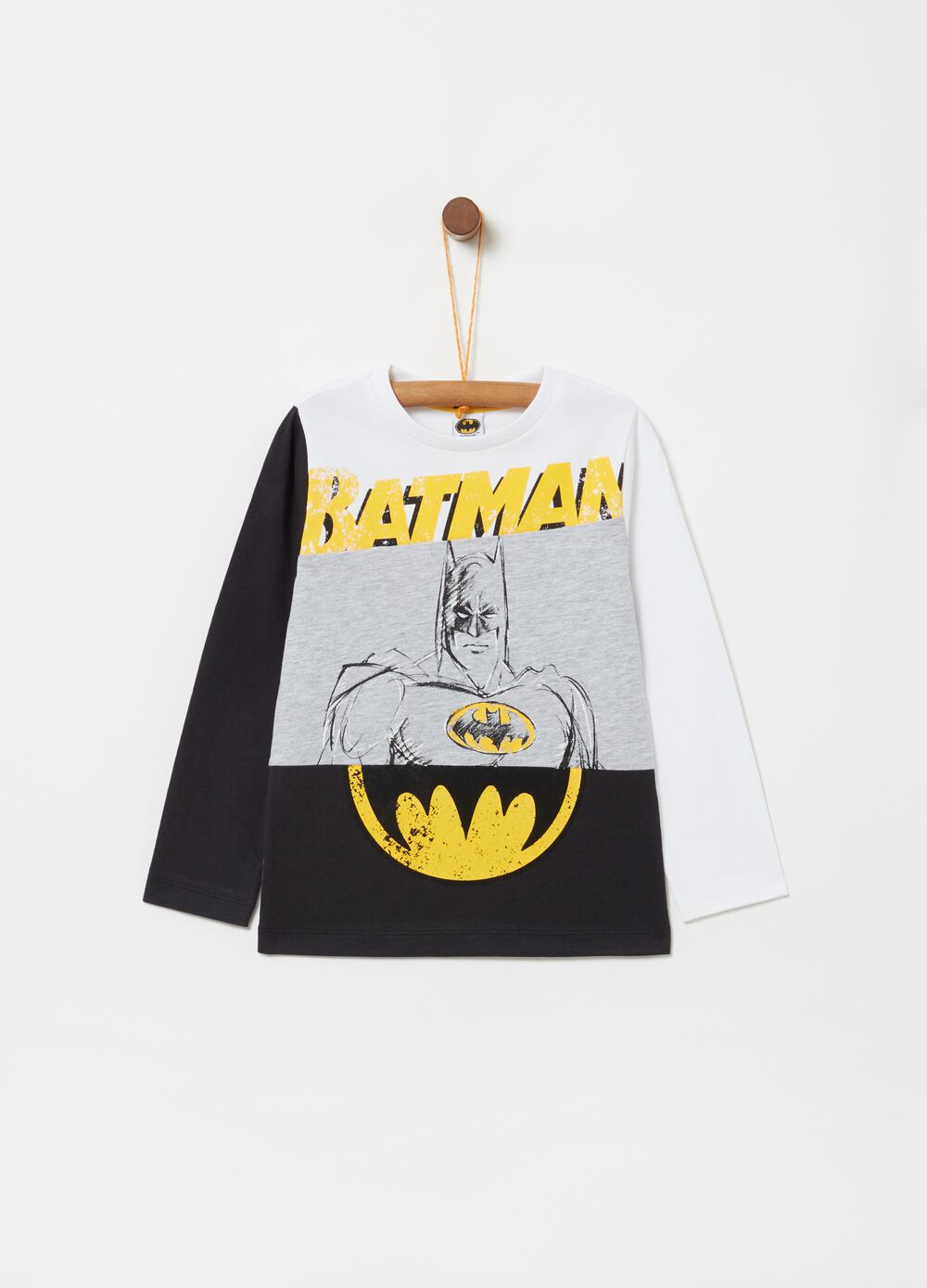 Long-sleeved cotton T-shirt with print [DC COMICS]