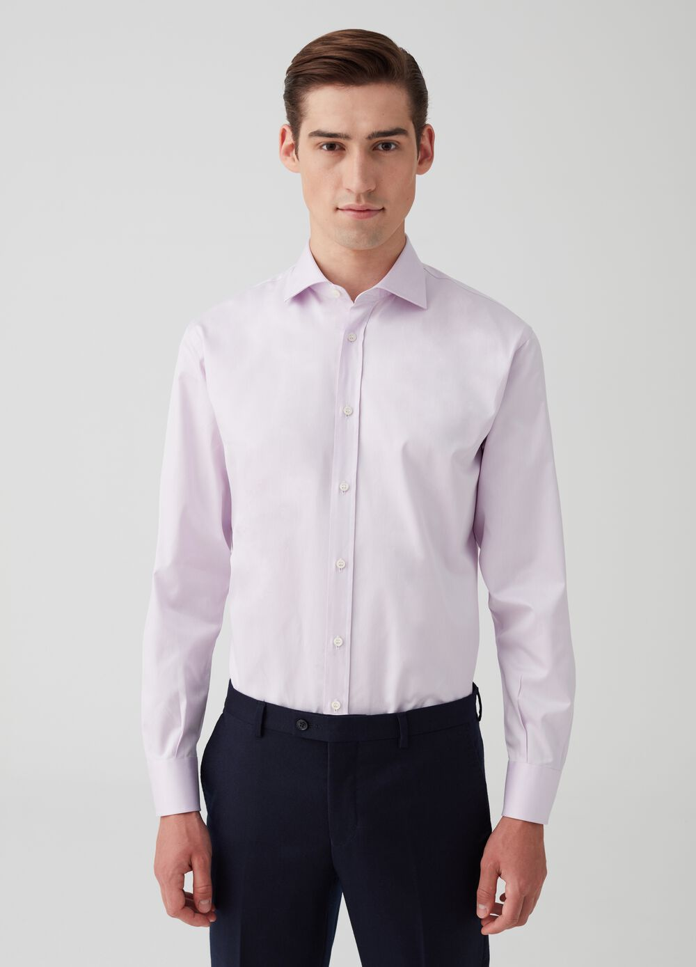 Solid colour regular-fit shirt
