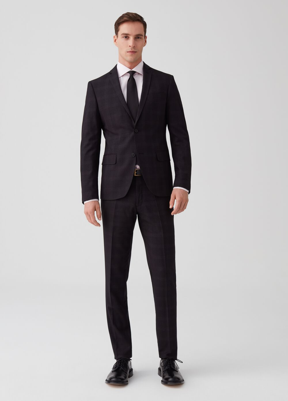 Custom-fit suit in Prince-of-Wales fabric