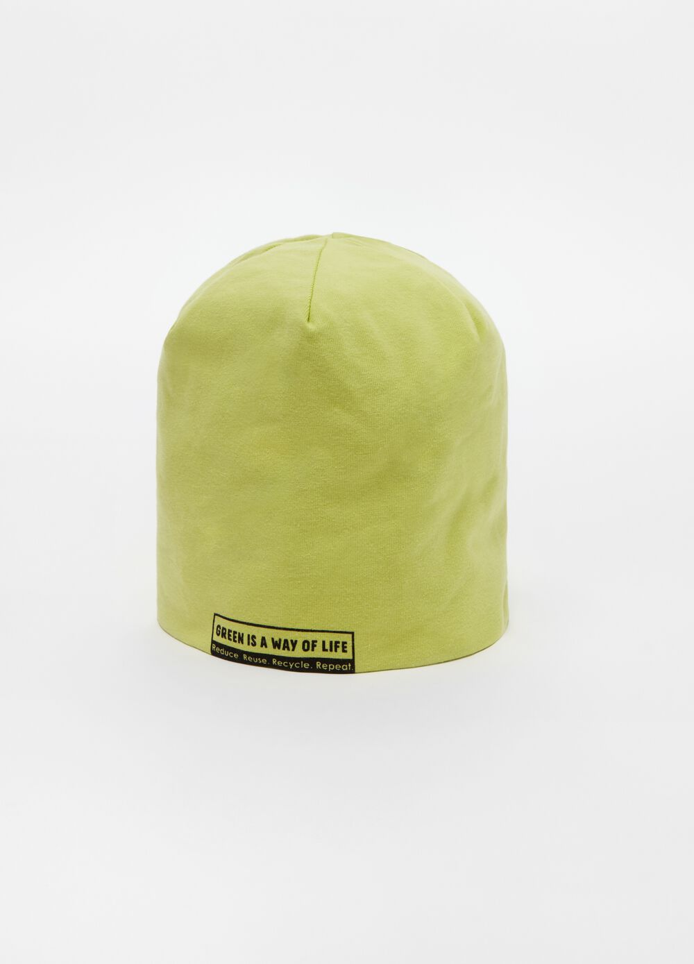 Soft cap with lettering print