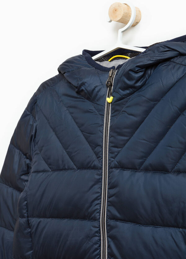 Jacket with high neck and hood | OVS