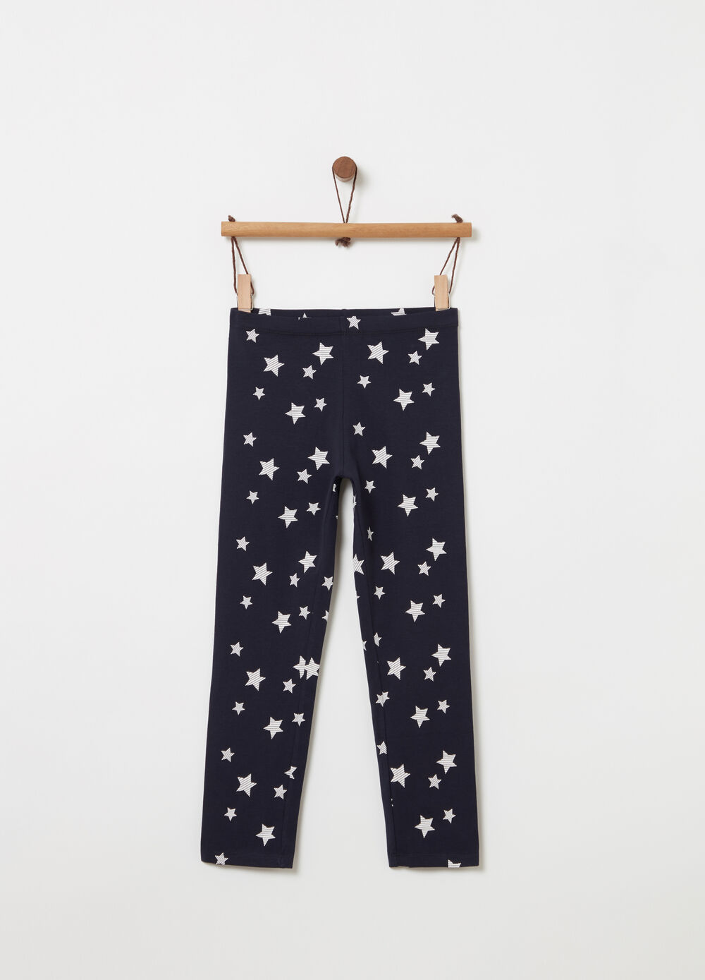 Leggings a tre quarti con stelle