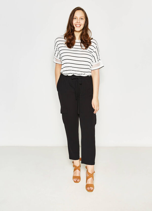 Curvy stretch trousers with pockets   OVS