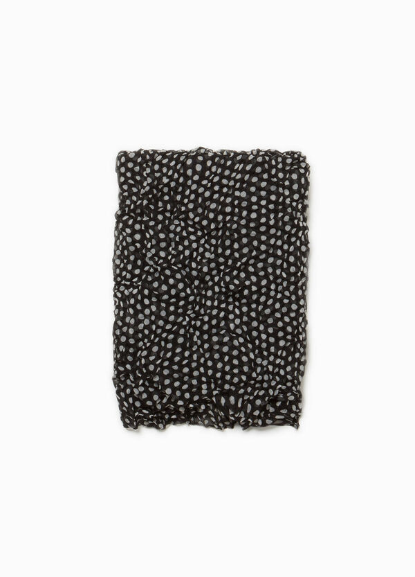 Creased polka dot pashmina | OVS