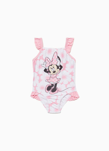 One-piece floral Minnie Mouse swimsuit