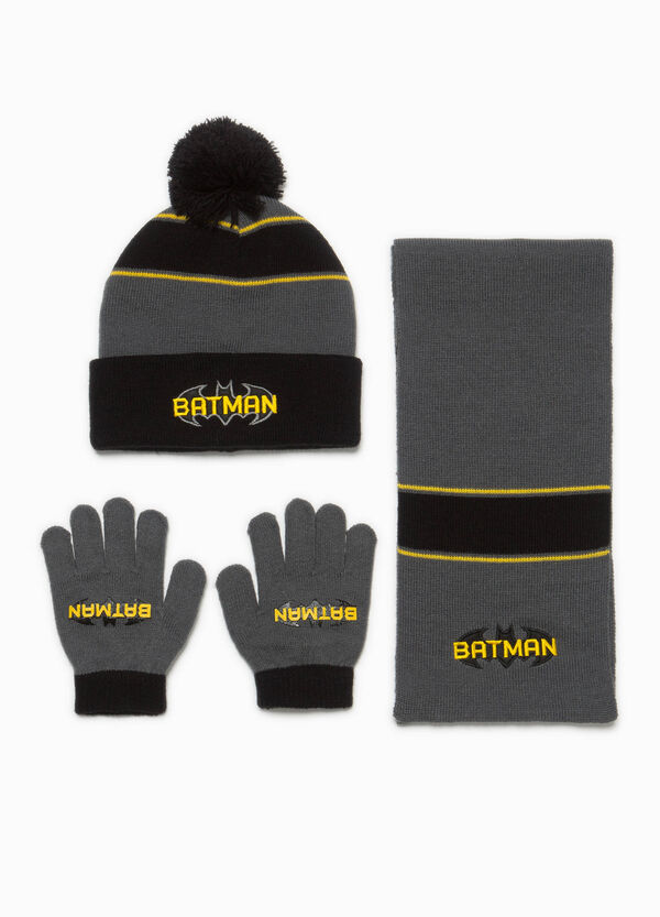 Batman hat, scarf and gloves set | OVS