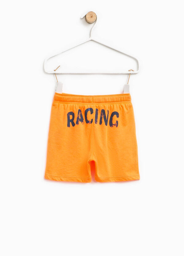 Shorts with printed lettering