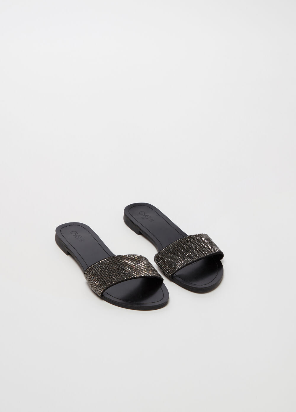 Sandals with strap and diamantés