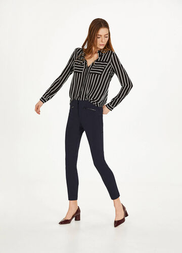 Stretch cotton blend trousers