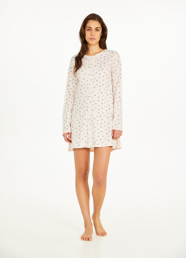 Floral cotton nightshirt