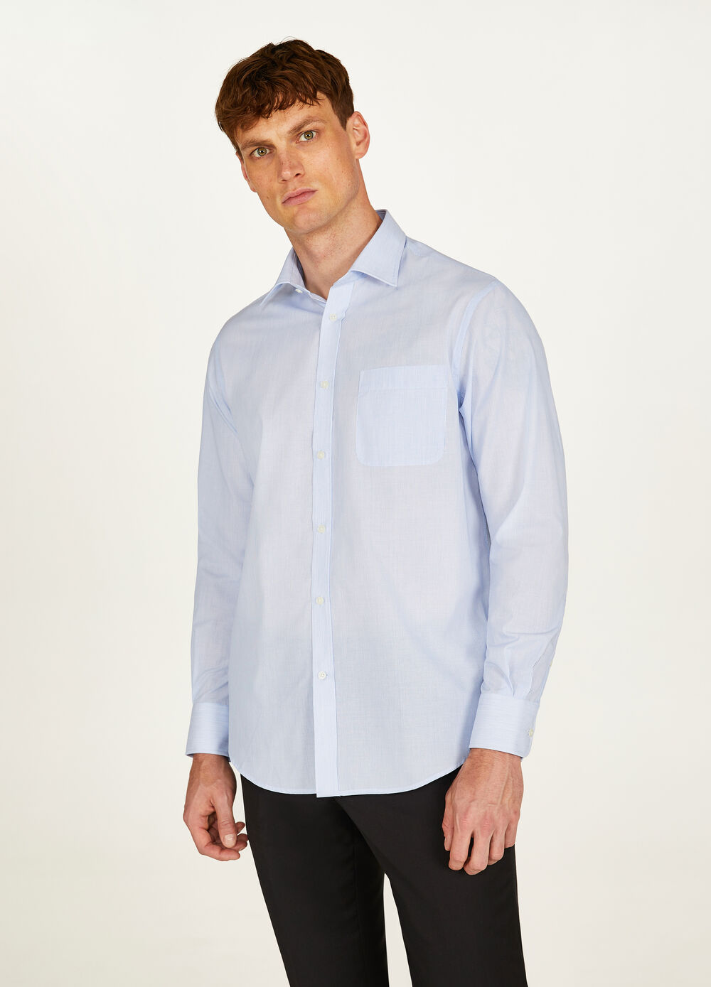 Chemise formelle regular fit micro rayures